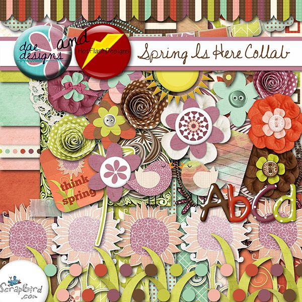 Spring is Here Collab by Dae Designs and HotFlashDesigns
