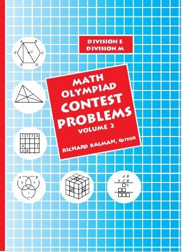 MATH OLYMPIAD CONTEST PROBLEMS (Volume 2)