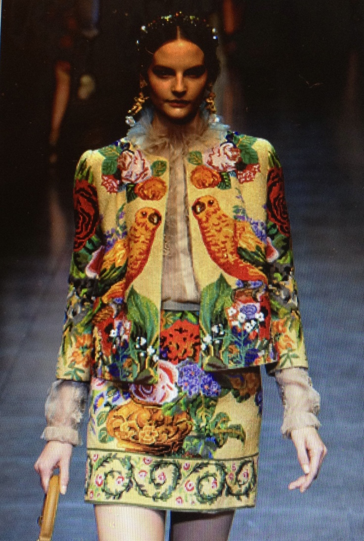 Needlepoint-Suit from Dolce & Gabbana's Fall 2012 Collection