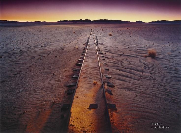 #Obie Oberholzer - Deserted train tracks between Aus & Luderitz, Namibia