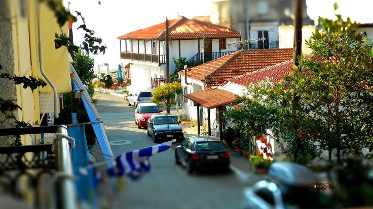 Sarti village, Halkidiki, Greece, Nikon Coolpix L310, HDR-Art/Tilt-Shift photography, 2013