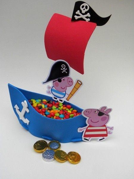 Barco George Pig Pirata-Cortes para Montar  www.petilola.com.br