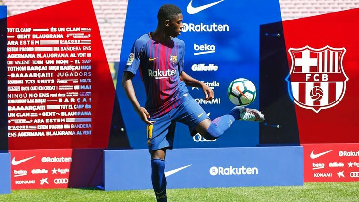 Ousmane Dembele fails in first attempt to emulate Neymar with keepy-ups