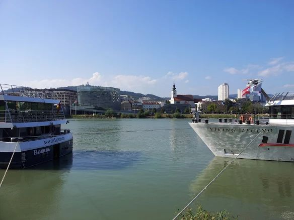 The Donau river at Linz