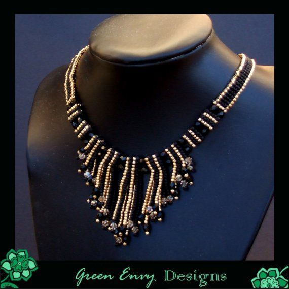 Enchantres SET necklace and earrings by GreenEnvyDesigns on Etsy