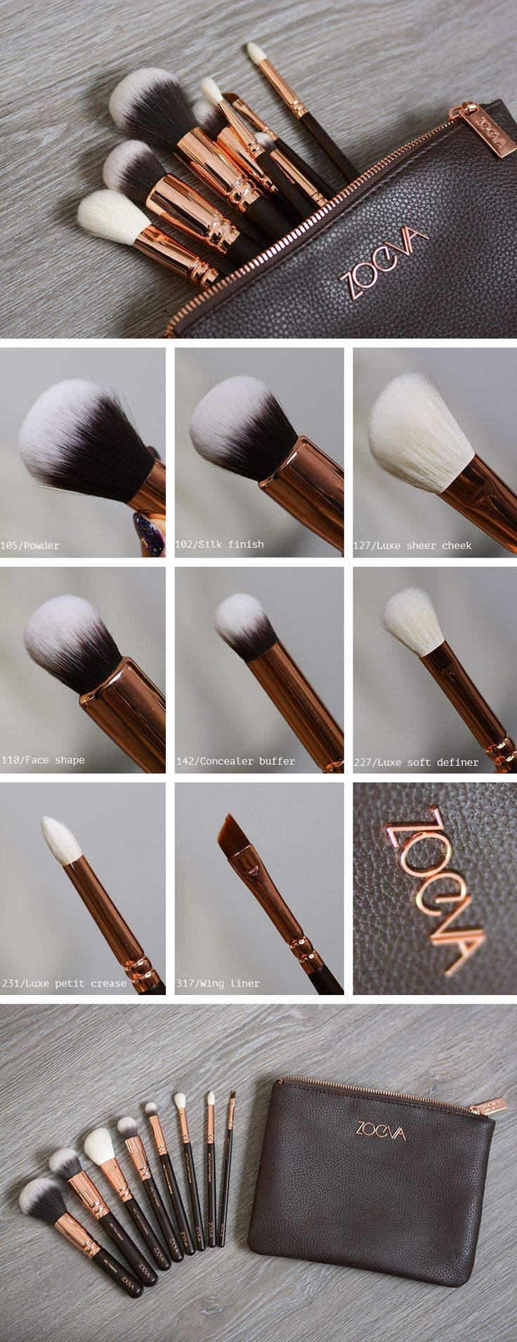 Rose gold luxury set by #ZOEVA - perfection #makeup #brushes