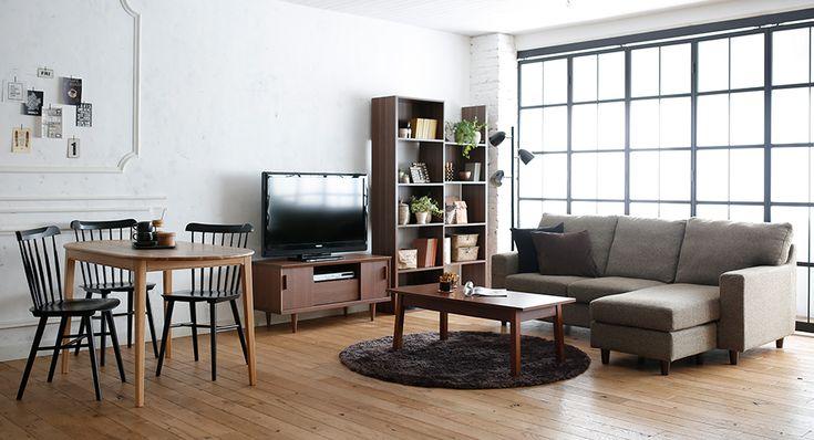 ブルックリン系をエッセンスに加えたシックな北欧風リビング家具・インテリア通販のNOCE