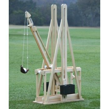 The World Famous Floating Arm Trebuchet  Hurl a golf ball up to 200 feet!  Kit includes: Pre-cut/drilled pieces and detailed instructions  Spark the interest of real world science and engineering (perhaps a bit of history too)  Test your machine's strength and efficiency with the included equations and tips as you watch classical mechanics in action