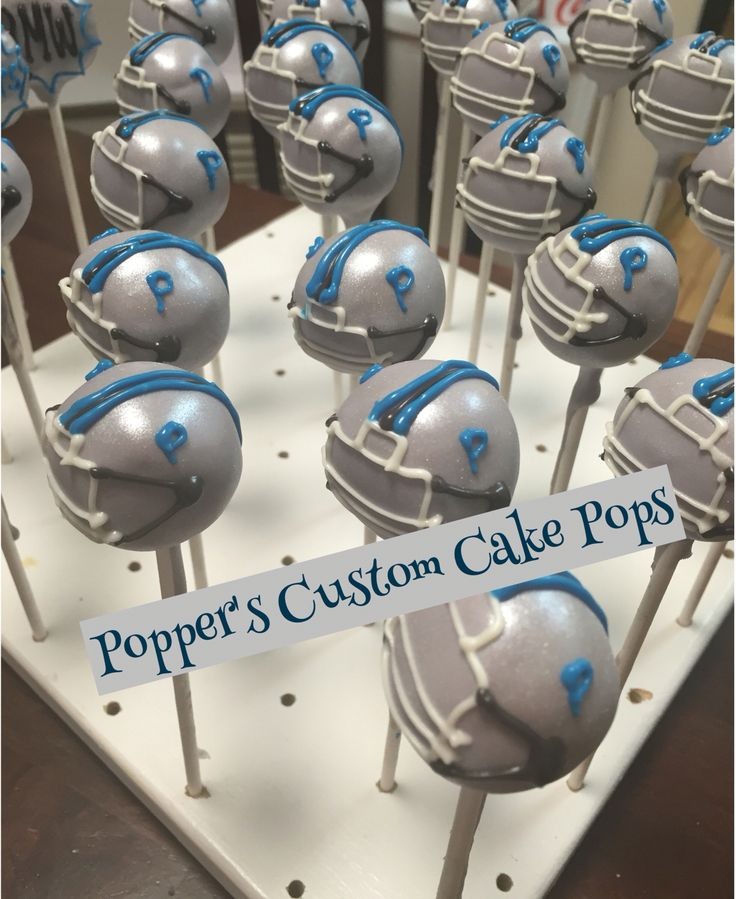 Football Helmet Cake Pops