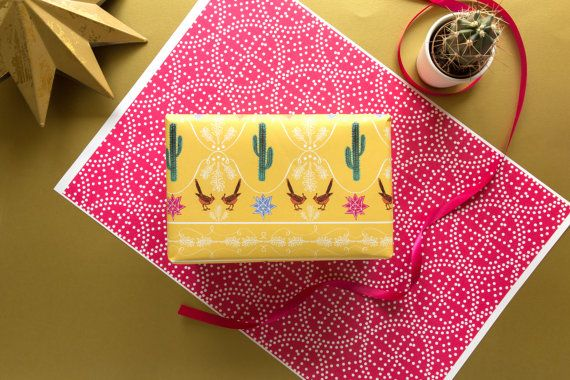 Double sided giftwrap - Wrapping Paper UK - Gift Wrapping, Bright Prints, Patterned Paper, Christmas Wrapping Paper, Christmas Wrap