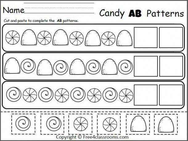 Preschool Worksheet Pattern Ab   Pattern worksheets for ...