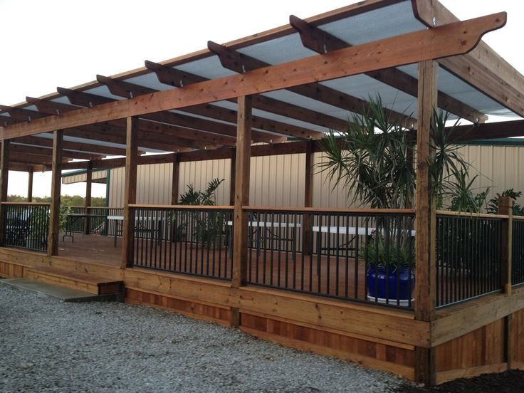 32 best build a free standing deck images on pinterest for Build a freestanding patio cover