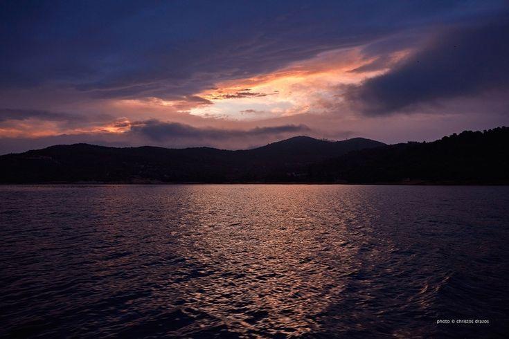 Fishermen enjoy this really early morning sky