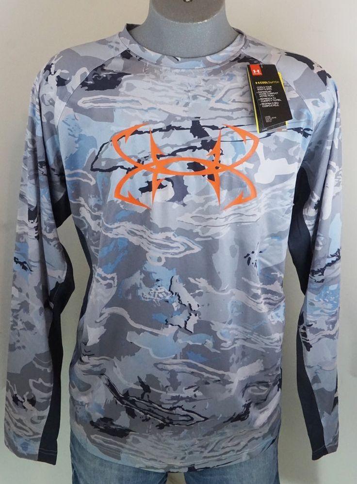 New Under Armour Men's Fishing Shirt Ridge Reaper Hydro Heatgear CoolSwitch 2XL #Underarmour #ShirtsTops
