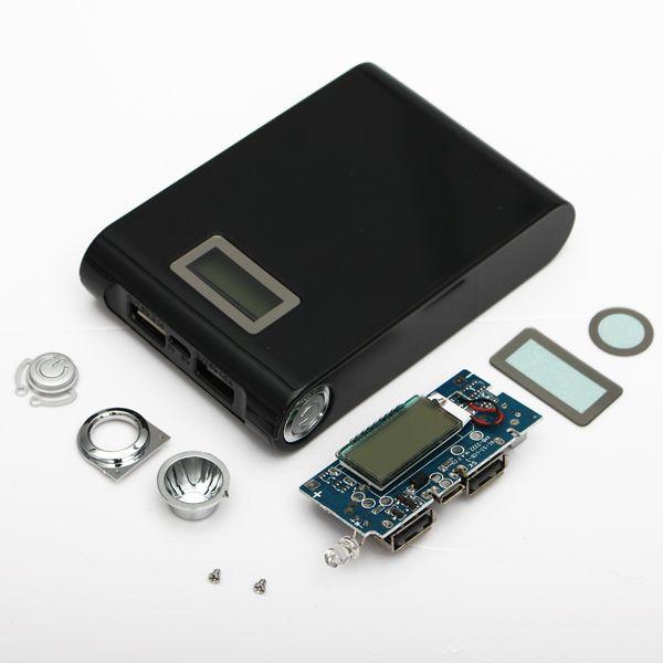 Kit DIY banco do poder 5v 1a 2a caixa carregador de bateria 18650 Dual USB