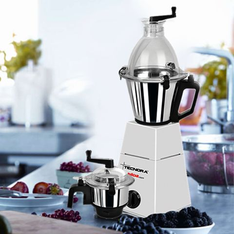 Tecnora Avatar 750FP Blender/Mixer/Grinder features Micro cut stainless steel blades that guarantee precision grinding. What's more…a unique patented safety lock mechanism prevents accidental spillages.