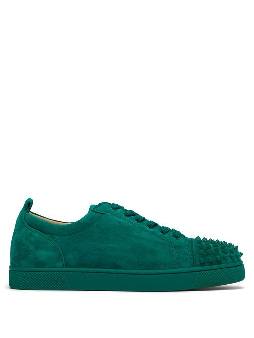 d2dcdb8af35 CHRISTIAN LOUBOUTIN Louis Junior spike-embellished leather trainers.   christianlouboutin  shoes