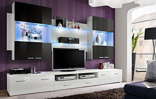 House BLACK/WHITE – Frame / Carcass white MAT, fronts black and white PVC HIGH GLOSS, blue Led's. Appropriate…