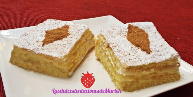 Las dulces tentaciones de Marlen: Milhojas de Crema Pastelera