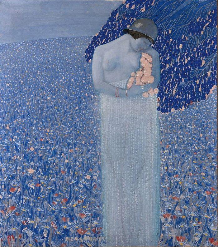 Felice Casorati - Per sé e per suo ciel concepe e figlia