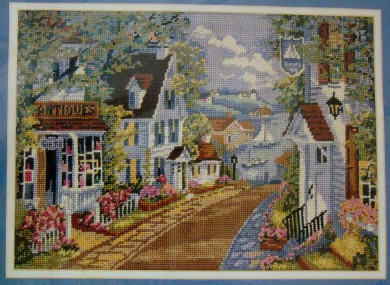 Harbor Village Elsa Williams Needlepoint Kit by 777VintageStreet