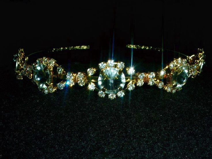 Rhinestone head band tiara