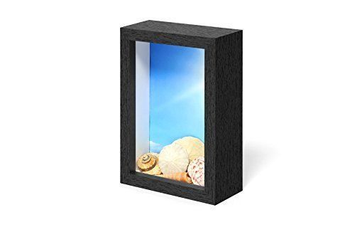 Swing-Design-Chroma-Shadow-Box-Frame-4-by-6-Inch-Black-New