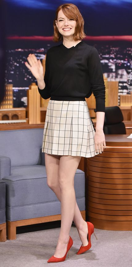 Look of the Day - October 15, 2014 | InStyle.com Emma Stone in Proenza Schouler