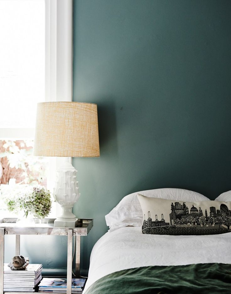 Modern bedroom with sage green walls | Bedroom | Pinterest ...