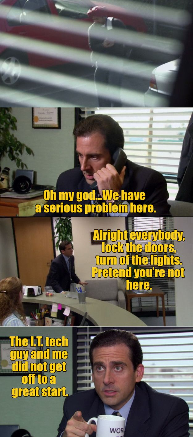 The one where Michael is terribly, terribly wrong about the IT guy.