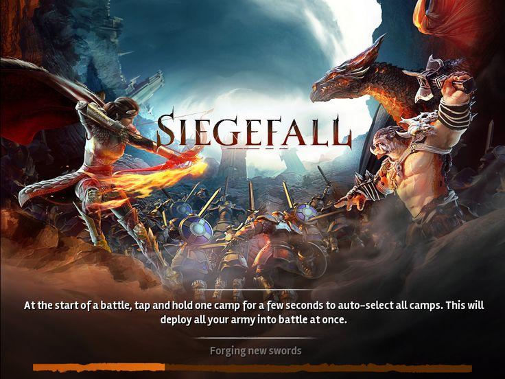 Siegefall | Game Splash Update 1 | UI HUD User Interface Game Art GUI iOS Apps Games | Gameloft | www.girlvsgui.com