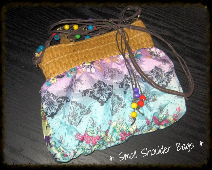 Assorted Patterned Small Shoulder Bags with Fruit of the Spirit Charms @ R65-00 each.