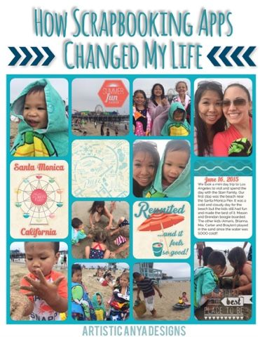Artistic Anya Designs:  How Scrapbooking Apps Changed My Life - Project Life App, Rhonna Designs App, Persnickety Prints App