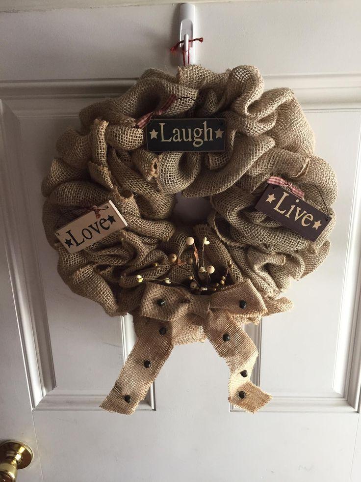 Burlap Primitive Wreath