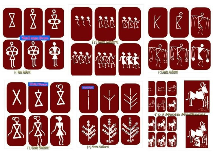 Easy warli paintings Courtesy:Easy Drawing for Kids