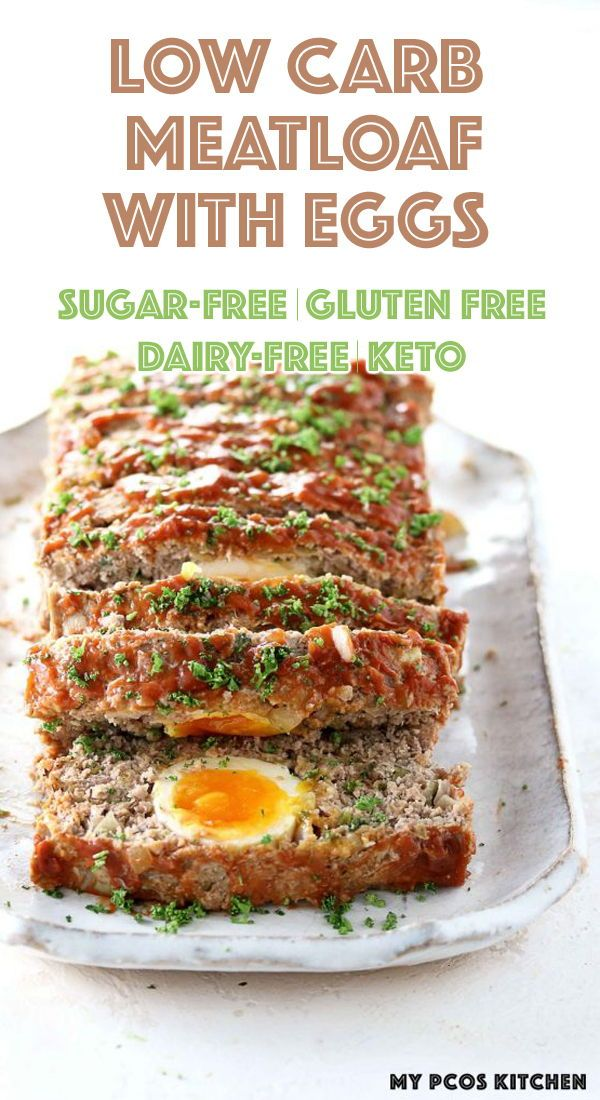Keto Meatloaf With Eggs My Pcos Kitchen Appetizer Recipes Low Carb Breakfast Recipes Low Carb Pork