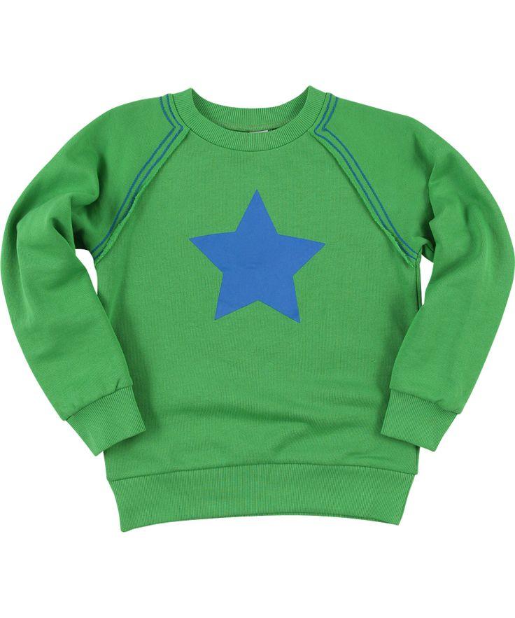 Molo super cool green sweat with big blue star #emilea