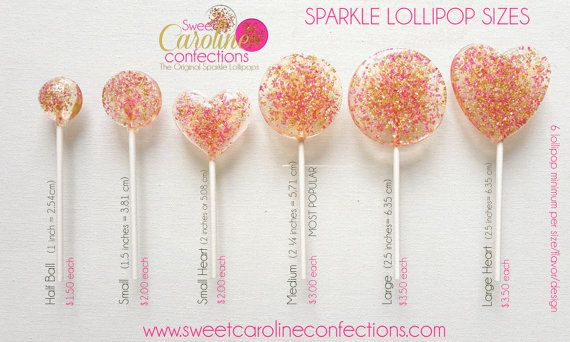 Light Pink and Gold Lollipops Candy by SweetCarolineConfect