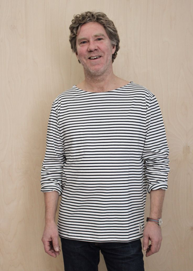 Randig tröja från emma och malena. Modell från Petersons krog på Käringön.