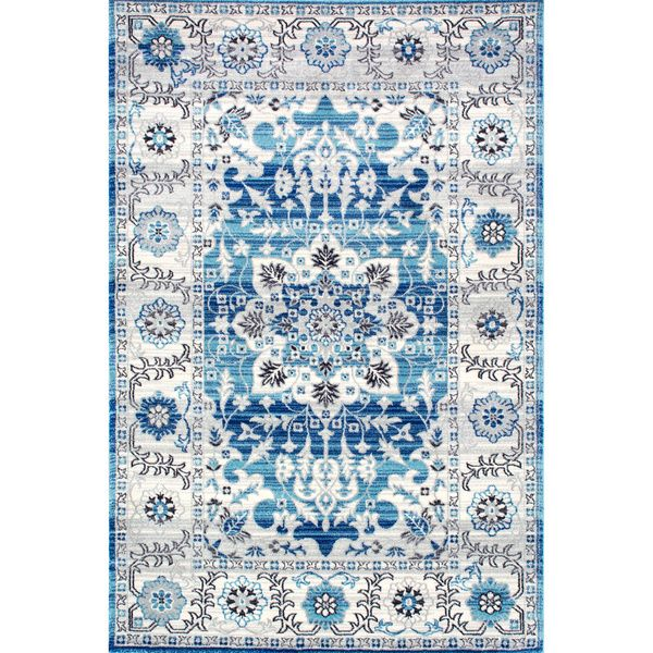 Shop Nuloom Traditional Persian Fancy Aqua Rug: 1000+ Ideas About Aqua Rug On Pinterest