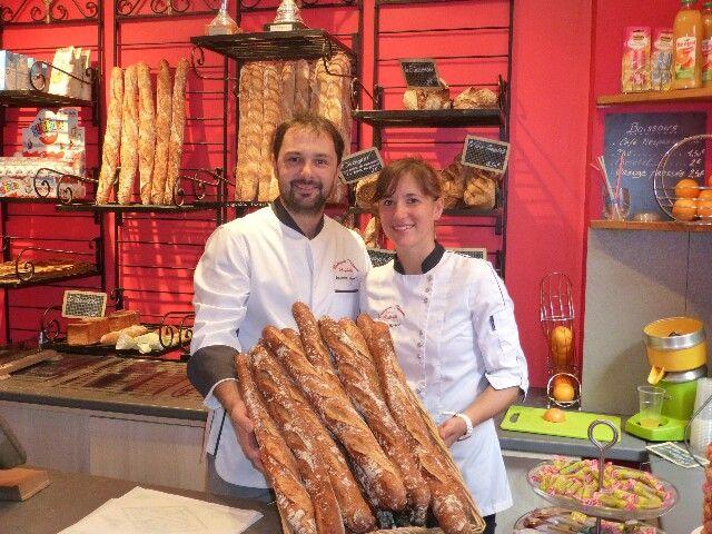 Sébastien et Priscilla Hayertz dans la Boulangerie Raphaëlle (Paris 18e)