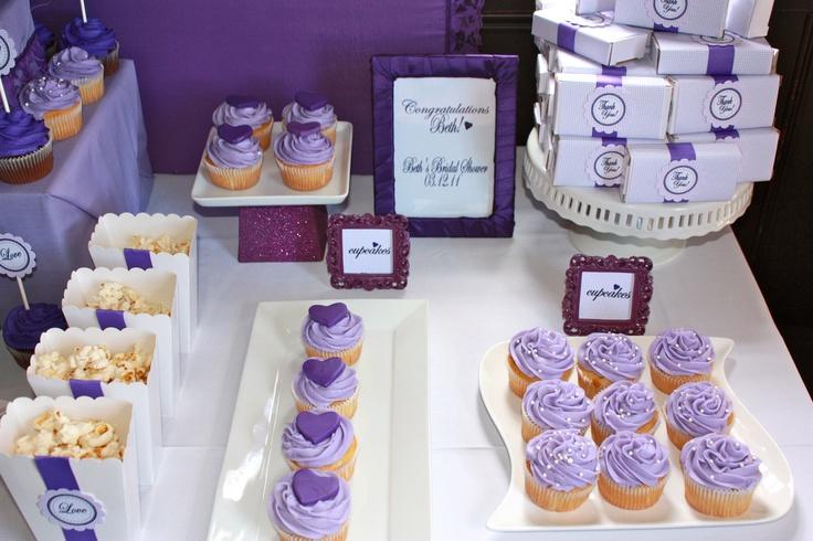 Purple Dessert table- Bridal Shower