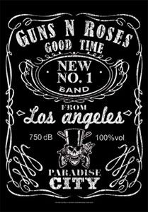Guns N' Roses Jack Daniels Fabric Poster 30 x 40  All Fabric Posters are made of a strong, silk-like material that will not rip like paper posters.