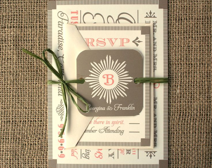 17 Best images about Wedding Invitation Ideas – Modern Classic Wedding Invitations