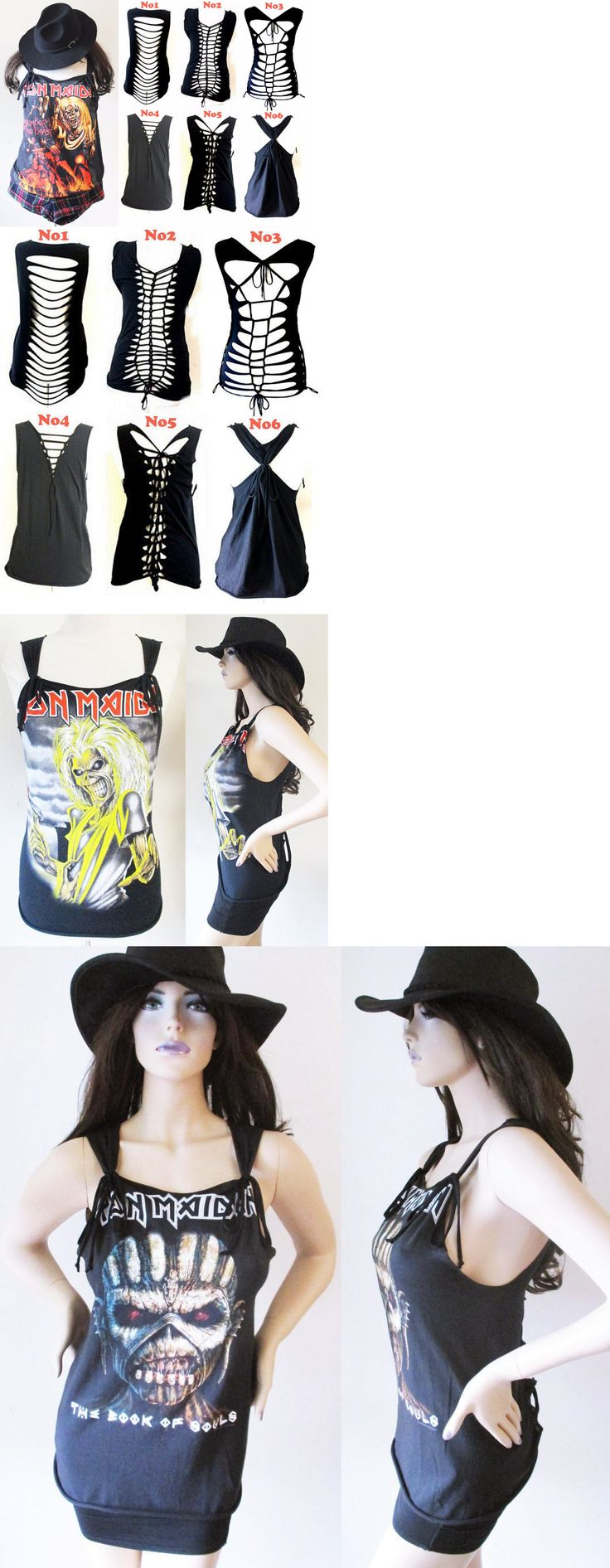 Women T Shirts: Iron Maiden With Special Cut Out Back Tank Top S-Xl Tee T Shirt -> BUY IT NOW ONLY: $39.99 on eBay!
