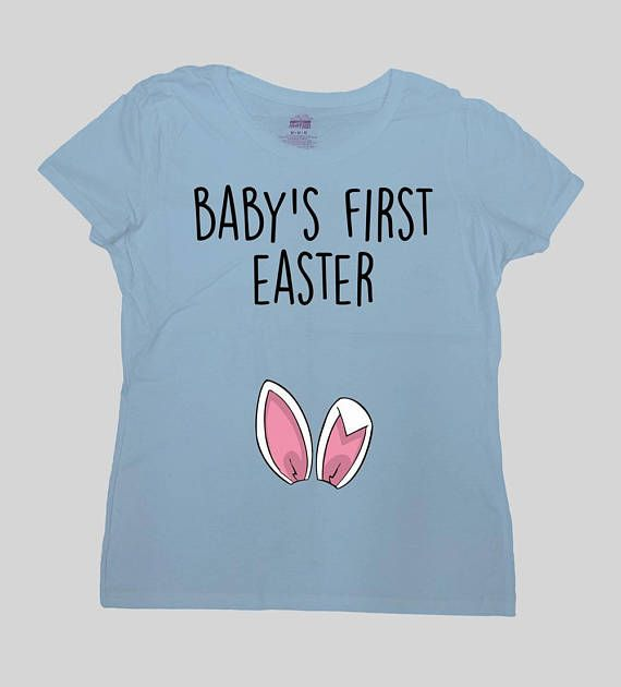 Easter Pregnancy Reveal Easter Announcement T Shirt New Baby