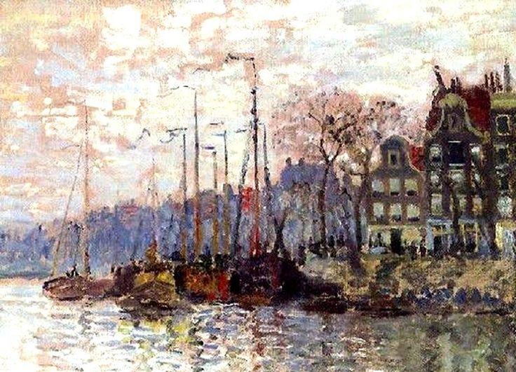 Amsterdam door Claude Monet, ca. 1874