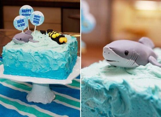 decoração de festa infantil tubarão