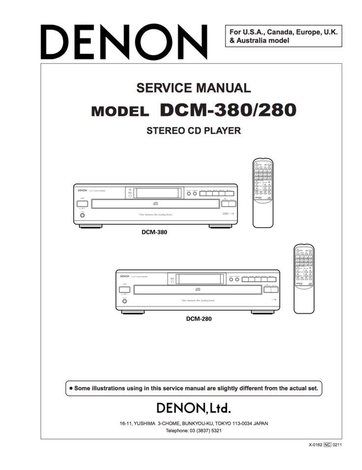 10 best denon service manuals images on pinterest manual textbook denon dcm 280 dcm 380 service manual complete on cd 2 fandeluxe Images