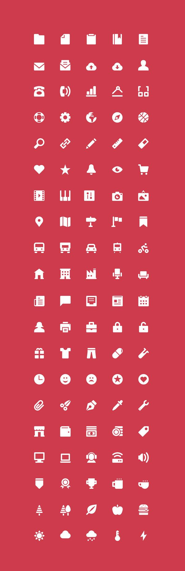 The Icons: 100 Free Icons | GraphicBurger